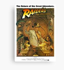 Indiana Jones and the Raiders of the Lost Ark Canvas Print