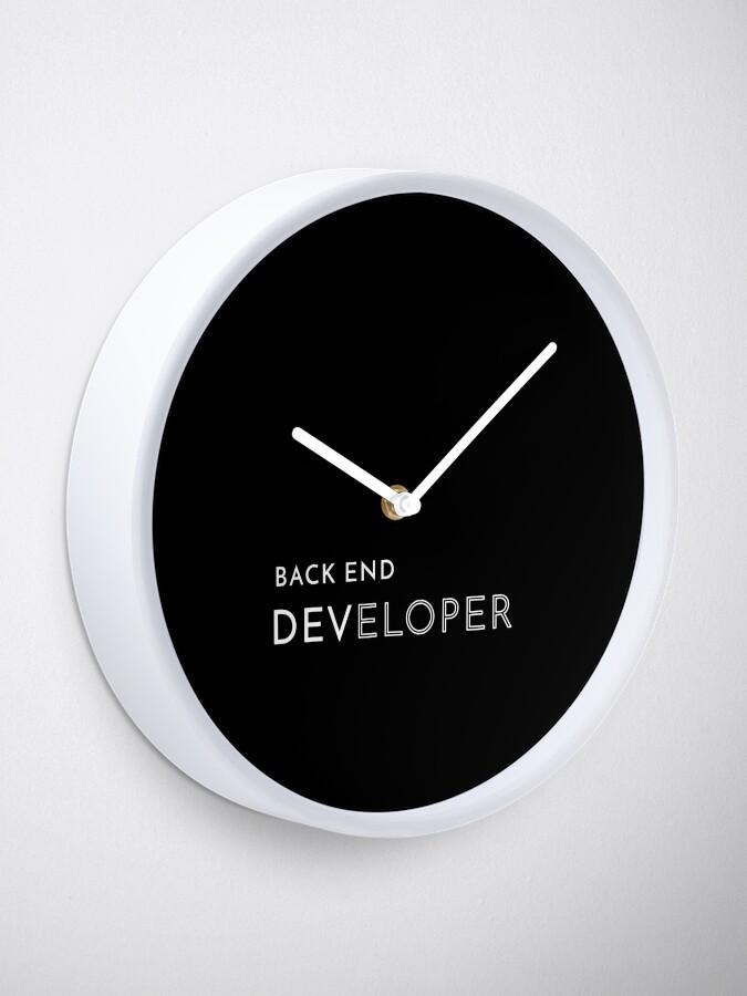 Alternate view of Back End Developer Clock