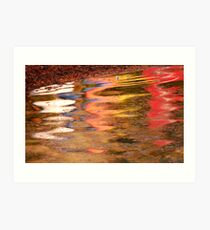 Boat Reflections  Art Print