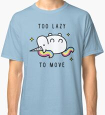 Too Lazy To Move Unicorn T-Shirt Classic T-Shirt