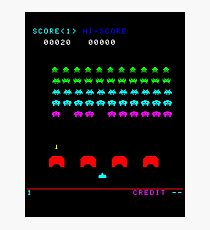 Space invaders game Photographic Print