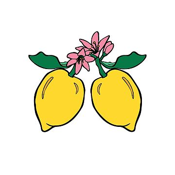 Lemons on Pink by LizWallflower