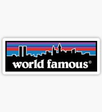 supreme x patagonia style world famous tee's cases and more Sticker