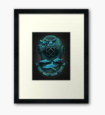 Deep diving Framed Print