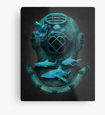 Deep diving Metal Print