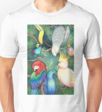 Parrots in the trees Unisex T-Shirt