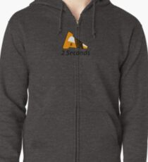 Shift Shirts Two Seconds – Autocross Racing Inspired Zipped Hoodie