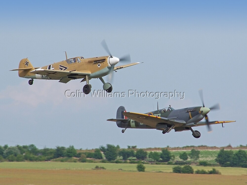 Friend And Foe Take Off - Duxford Flying Legends 2013 by Colin  Williams Photography
