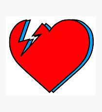 David Bowie - Lightning Heart Photographic Print