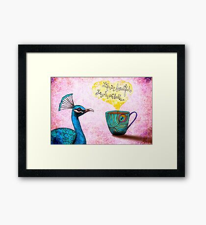What my #Coffee says to me - March 26, 2015 Framed Print