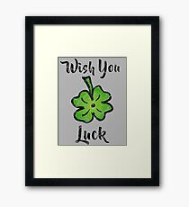Shamrock - Wish you luck - vintage Framed Print