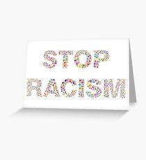 Tarjeta de felicitación ¡Para el racismo!