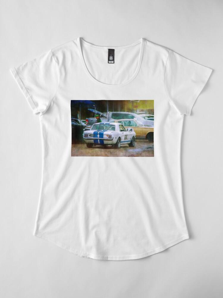 Alternate view of Mustang in the Paddock Premium Scoop T-Shirt