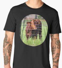 Cow Beyond the Fence Men's Premium T-Shirt