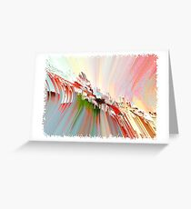 Abstract pastel composition Greeting Card