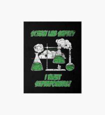 Natural science chemistry laboratory Art Board