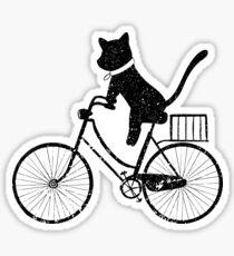 Cat Bicycle Shirt Cute Cat Riding Bicycle Shirt Cat Shirt Sticker 1bdc9bc86