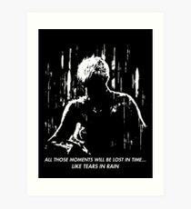 Blade Runner - Like Tears in Rain Art Print