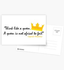 Think like a Queen Postcards