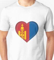 I Love Mongolia Flag T-Shirt Unisex T-Shirt