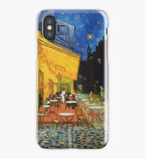 Cafe Terrance At Night Painting iPhone Case