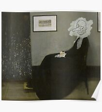 Whistler Mother Mr Bean Painting Poster