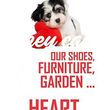 Little Dog cute heart  by manatti