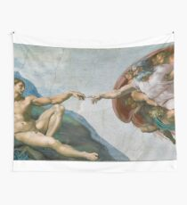 The Creation Of Adam Painting Wall Tapestry
