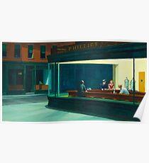 Nighthawks Painting Edward Hopper  Poster