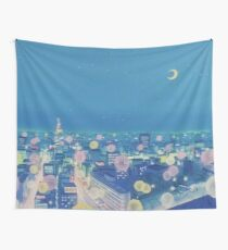 Sailor Moon Background City nachts Wandbehang