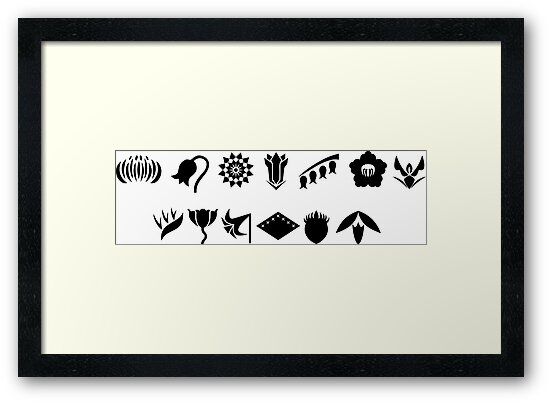 Bleach 13 Squad Gotei Symbols Framed Prints By Ktpep Redbubble
