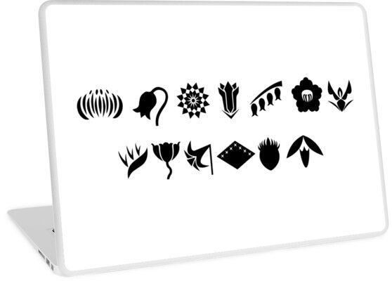 Bleach 13 Squad Gotei Symbols Laptop Skins By Ktpep Redbubble