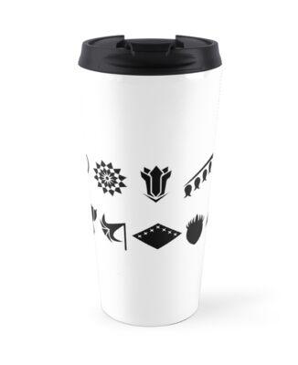 Bleach 13 Squad Gotei Symbols Travel Mugs By Ktpep Redbubble