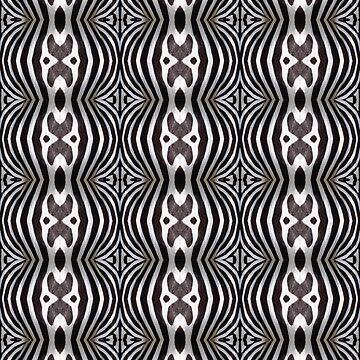 Monochrome zebra pattern by Julieford
