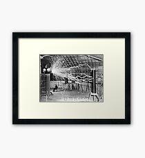Nikola Tesla Electricity  Framed Print