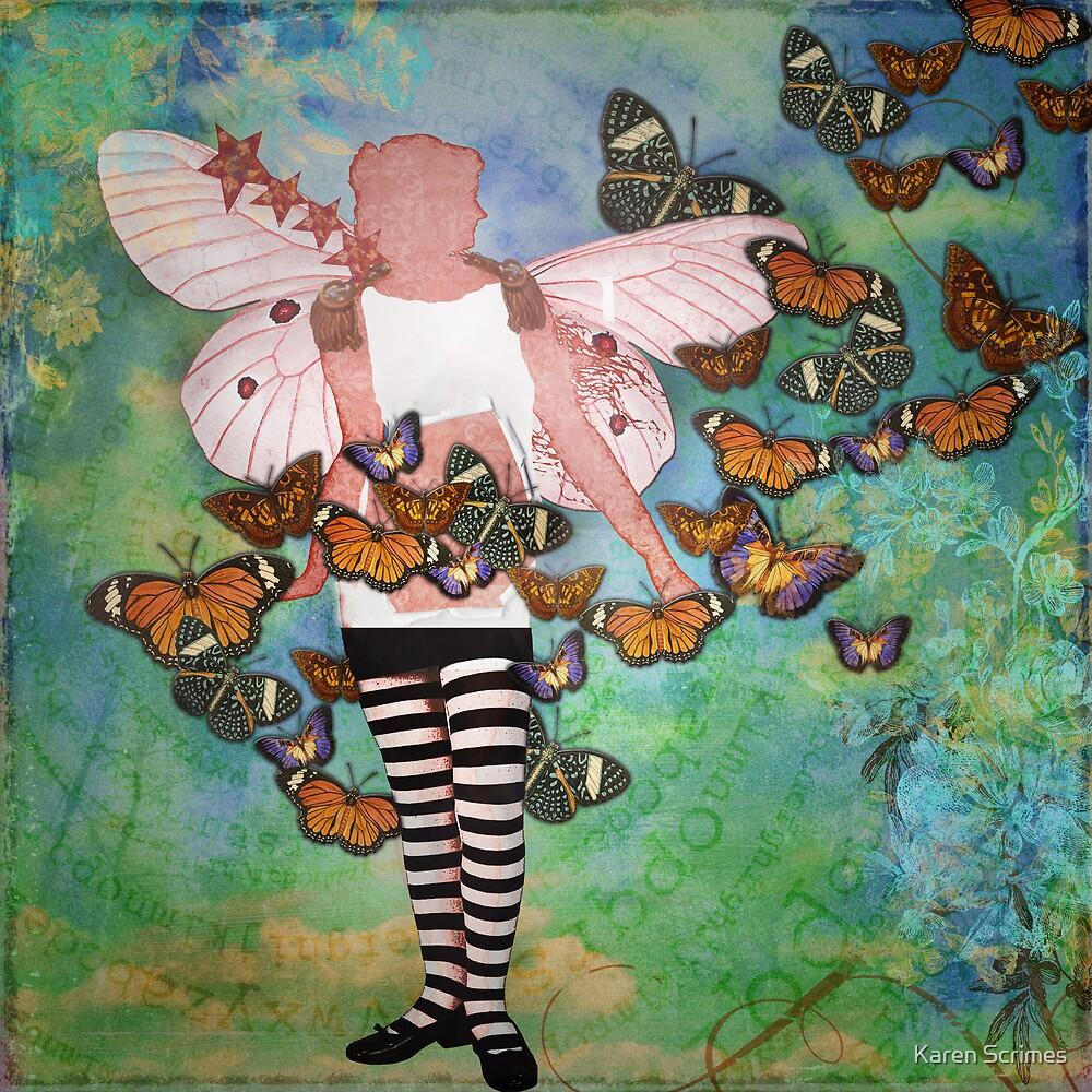 Butterflies in her stomach by Karen Scrimes
