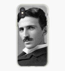 Nikola Tesla Portrait iPhone Case