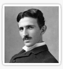 Nikola Tesla Portrait Sticker