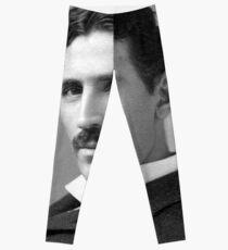 Nikola Tesla Portrait Leggings
