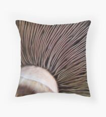 Muchroom Lines Throw Pillow