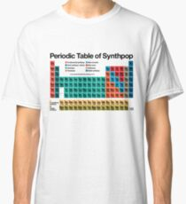 Periodic Table of Synthpop (light background) Classic T-Shirt