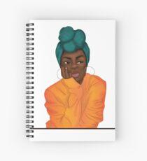 """""""Mmmphmmm"""" Black Girl Thinking Spiral Notebook"""