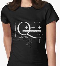 Q - Anon - Wo wir gehen, ein + + + Tailliertes T-Shirt