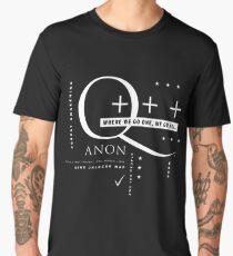 Q - Anon – Where We Go One + + + Men's Premium T-Shirt