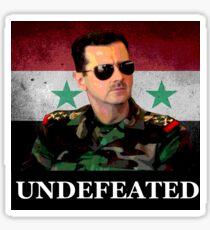 Bashar Al Assad UNDEFEATED sticker Sticker