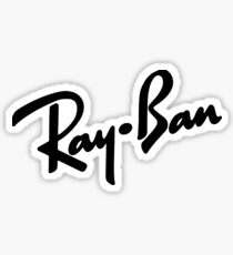 Ray Bans Logo Sticker