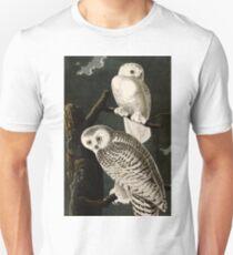 Snowy Owl Vintage Bird Illustration Unisex T-Shirt