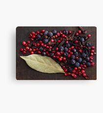 Spice Berries Canvas Print