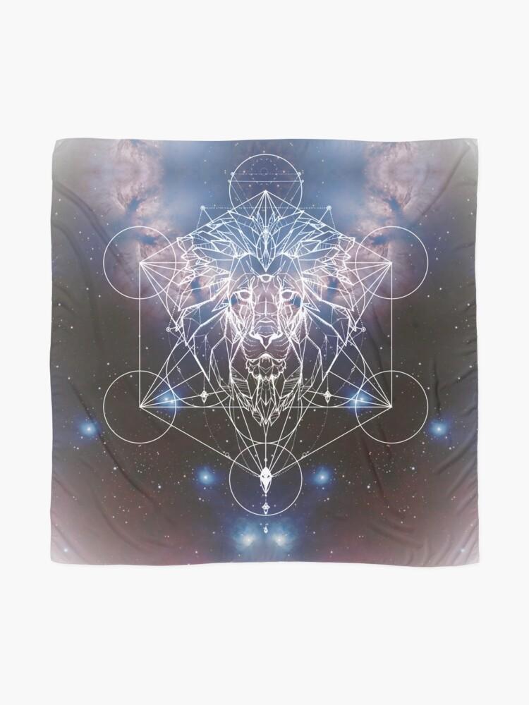 Alternative Ansicht von Metatrons Löwenherz, Geometrischer Löwe mit Fraktalnebel Tuch