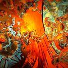 galaxies collide: élan vital ephemeral: in_destruction creation by hourevolution